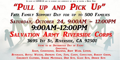 """Riverside"" Pull Up and Pick Up Family Support Day Event tickets"