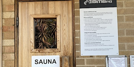 Roselands Aquatic Sauna Sessions - Tuesday 20 October 2020