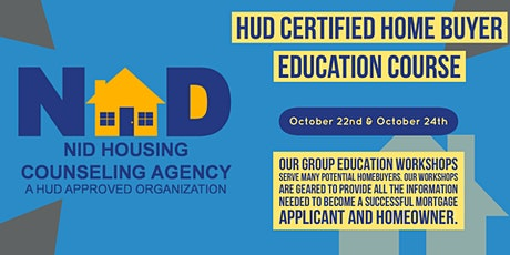 """October  HUD Certified """"Virtual"""" Homebuyer Education Course tickets"""