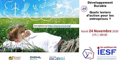 Les Webinars IESF Alsace - Développement Durable billets