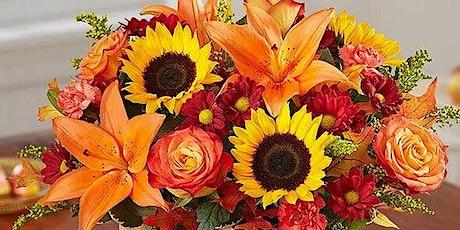 Fall Fresh Flower Center Piece Design Class tickets