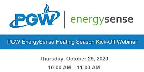 PGW EnergySense Heating Season Kick-Off Webinar tickets
