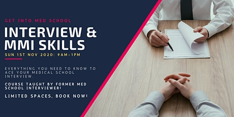 Get Into Med School: Interview & MMIs  Course tickets