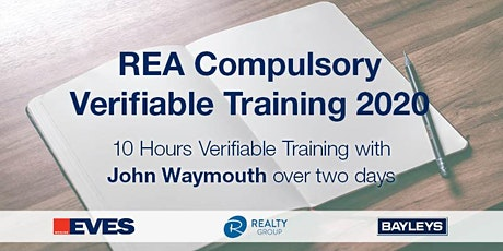 REA COMPULSORY VERIFIABLE TRAINING NOVEMBER 2020 - BAY OF PLENTY tickets