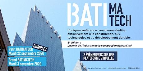 Grand Batimatech 2020  - L'avenir de la construction aujourd'hui! billets