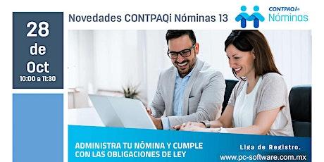 Novedades CONTPAQi Nóminas 13 boletos