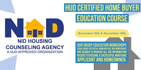 November  HUD Certified Homebuyer Education Course tickets
