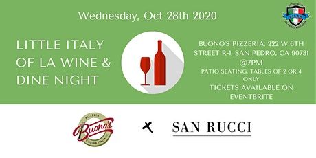 Little Italy of LA Wine and Dine Night tickets