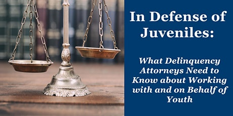 Introduction to Juvenile Court and the Role of the Juvenile Defender tickets