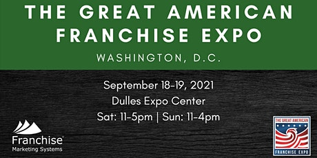 The Great American Franchise Expo | Washington, D.C. tickets