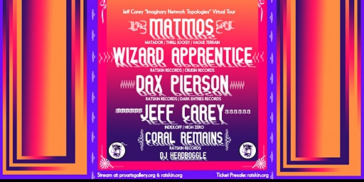 Matmos, Wizard Apprentice, Dax Pierson, Jeff Carey, Coral Remains, DJ HB