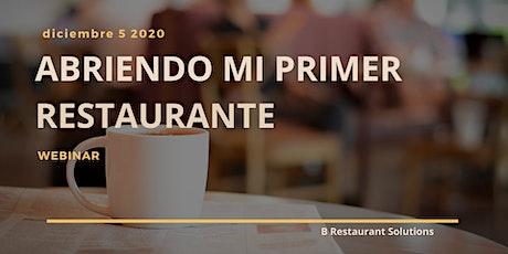 Webinar  Abriendo Mi Primer Restaurante Christmas Edition entradas