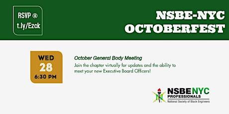 October Virtual General Body Meeting tickets