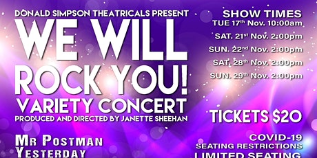 WE WILL ROCK YOU - Musical Theatre Show tickets