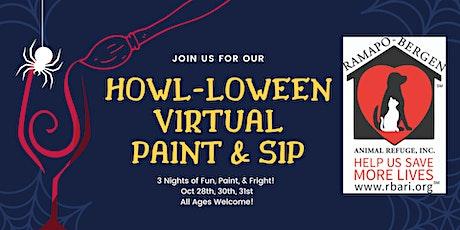 Howl-loween Paint N' Sip tickets