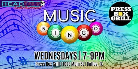 Music Bingo at Press Box Grill - Dallas tickets