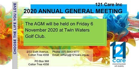121 Care AGM tickets