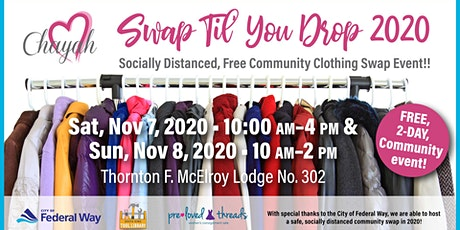 Swap Til' You Drop - Socially Distanced, Free Community Clothing Swap! tickets