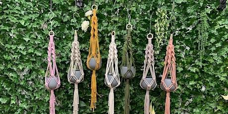 Macrame -Hanging Baskets tickets