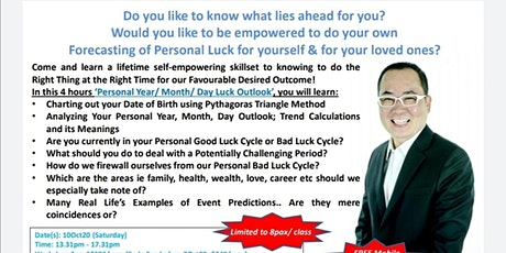 Personal (Year/Month/Day) Luck Outlook Workshop tickets