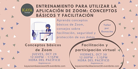 Facilitación y participación comunitaria virtual tickets