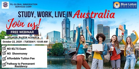 STUDY, WORK & LIVE IN AUSTRALIA (BLUE LOTUS COLLEGE) tickets