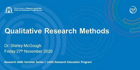 Qualitative Research Methods - 27 Nov tickets