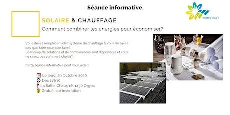 Solaire & Chauffage: combiner les énergies pour économiser!