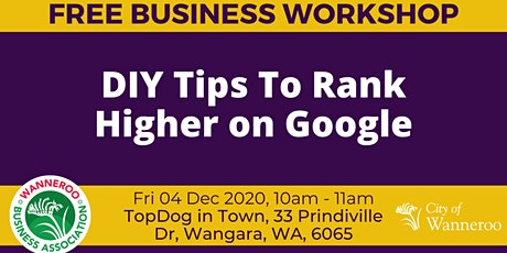 Business workshop - DIY Tips to Rank Higher on Google tickets