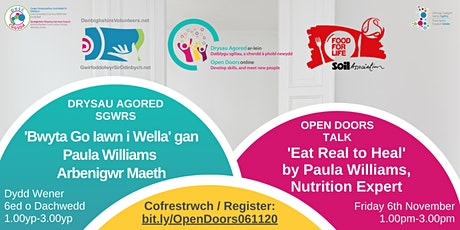Open Doors Talk: 'Eat Real to Heal' by Paula Williams, Nutrition Expert