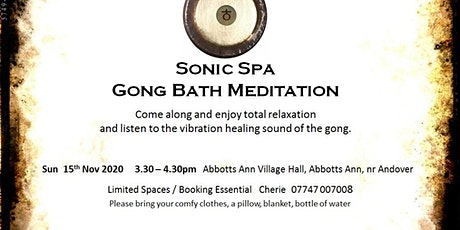 Sonic Spa Gong Bath Meditation - 15th November 2020 (Session 2) tickets