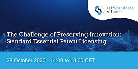 The Challenge of Preserving Innovation: Standard Essential Patent Licensing tickets