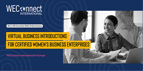 Virtual Business Introduction Session #4 - for certified WBEs only tickets
