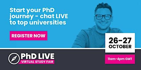 PhD LIVE Virtual Study Fair tickets