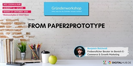 Gründerworkshop - From Paper2Prototype Tickets