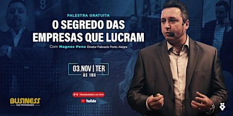 Palestra O Segredo das empresas que lucram 03/11 billets