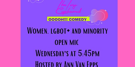 Women, lgbqt+ and minority comedy open mic tickets
