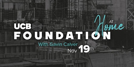 UCB Foundation at Home with Gavin Calver tickets