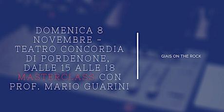 MASTERCLASS  con Prof. Mario Guarini biglietti