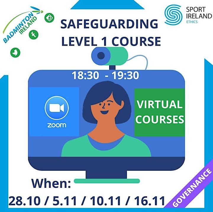 Badminton Ireland - Safeguarding Level 1 - Online Delivery image