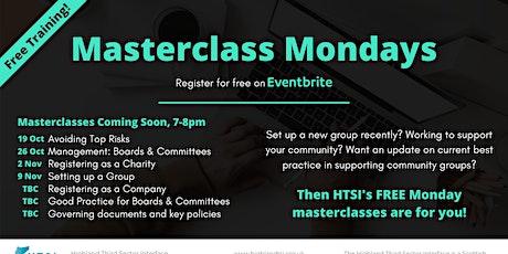 Masterclass Monday -  Setting up a Group tickets