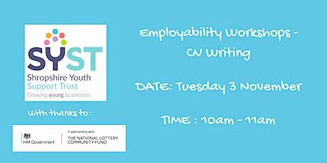 Employability Skills Workshops-CV Writing tickets