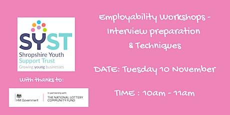 Employability Skills Workshops-Interview Prep tickets