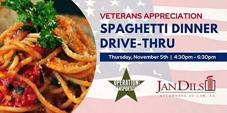 Veterans Appreciation Drive-Thru Spaghetti Dinner tickets
