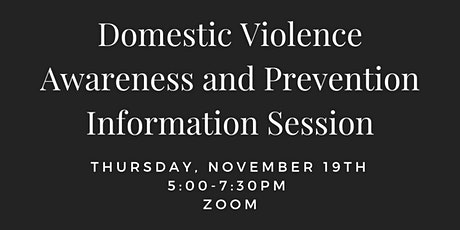 Domestic Violence Awareness and Prevention Informational Session tickets