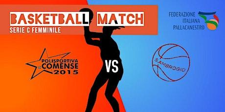 incontro di basket femminile Comense-Basket S.Ambrogio biglietti