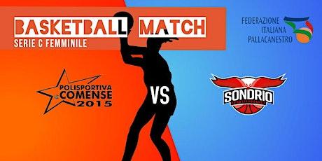 incontro di basket femminile Comense-Sportiva Basket Sondrio biglietti