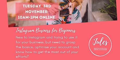 Beginners Instagram for Business Workshop tickets
