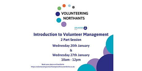 Introduction to Volunteer Management - 2 Part Workshop tickets