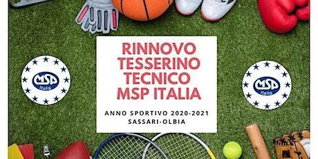RINNOVO DEL TESSERINO TECNICO MSP ITALIA-SASSARI/OLBIA